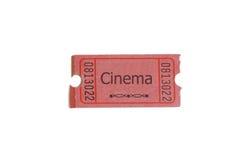 Boleto del cine foto de archivo