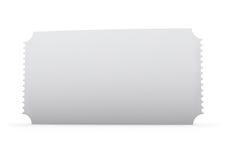 Boleto en blanco imagen de archivo