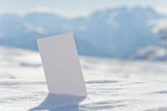 Boleto en blanco de la tarjeta de visita de la nieve Fotos de archivo libres de regalías