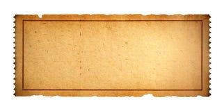 Boleto en blanco viejo fotos de archivo libres de regalías