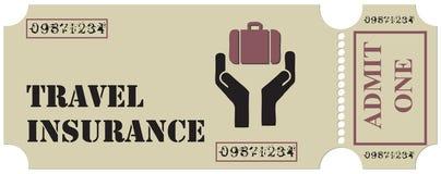 Boleto para el seguro del viaje Foto de archivo