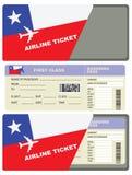 Boleto para un vuelo a Chile Imagenes de archivo