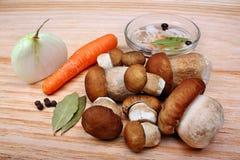 Boleto posto de conserva dos cogumelos Fotografia de Stock