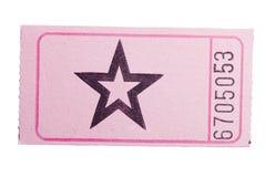 Boleto rosado de la estrella Imagen de archivo