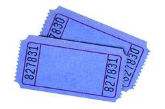 Boletos azules Imágenes de archivo libres de regalías