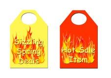 Boletos calientes de la venta Foto de archivo libre de regalías