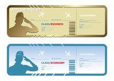 Boletos de líneas aéreas Fotografía de archivo