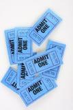 Boletos de la admisión Imagen de archivo libre de regalías