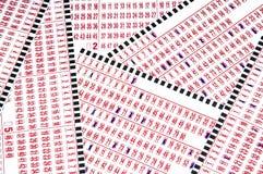 Boletos de lotería fotografía de archivo libre de regalías
