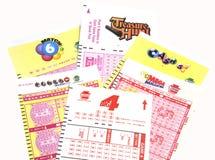 Boletos de lotería del PA Foto de archivo libre de regalías