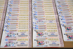 Boletos de lotería tailandeses Fotos de archivo