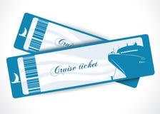 Boletos del barco de cruceros Fotos de archivo libres de regalías