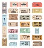 Boletos del vintage del vector Imágenes de archivo libres de regalías