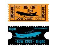 Boletos del vuelo del bajo costo Foto de archivo libre de regalías