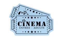 Boletos franceses del cine Fotos de archivo