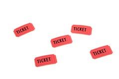 Boletos rojos Foto de archivo libre de regalías
