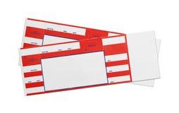 Boletos rojos en blanco del concierto Imagen de archivo libre de regalías