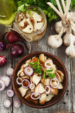 Boletus, funghi marinati Fotografia Stock