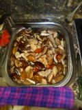 Boletus. Tasty lunch at home Royalty Free Stock Photo