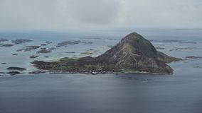 The Bolga Island. Seen from air in Norway stock video