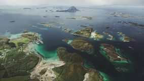 The Bolga Island. Seen from air in Norway stock video footage