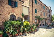 Bolgheri-Dorf Toskana, Italien Stockfoto