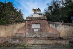 Bolgheri Leghorn, Tuscany - Eagle källa som renoveras i 2009, Ita Arkivbilder