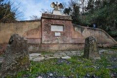 Bolgheri Leghorn, Tuscany - Eagle källa som renoveras i 2009, Ita Royaltyfri Foto
