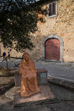 Bolgheri, Leghorn, Tuscany - sculpture dedicated to Nonna Lucia, Royalty Free Stock Photo