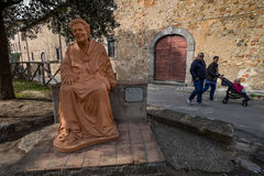 Bolgheri, Leghorn, Tuscany - sculpture dedicated to Nonna Lucia, Italy royalty free stock image