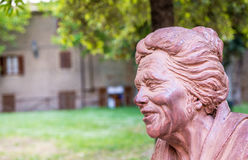 Bolgheri. Sculpture of Giosue Carducci's Grandmother, italian No Royalty Free Stock Photography