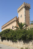 Bolgheri slott, Tuscany, Italien Royaltyfria Foton