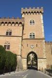 Bolgheri slott, Tuscany, Italien Royaltyfria Bilder