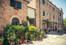Bolgheri wioska Tuscany, Włochy Zdjęcie Stock