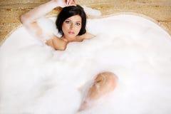 Bolha-banho. fotografia de stock