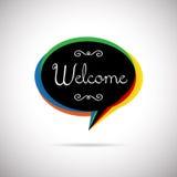 Bolha bem-vinda Imagens de Stock