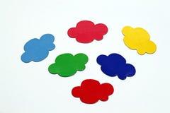 Bolha colorida da nuvem Foto de Stock Royalty Free