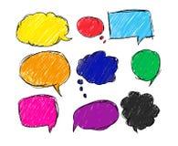 Bolha colorida para o discurso ilustração stock