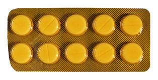 Bolha com comprimidos Fotos de Stock