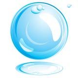 Bolha da água. ilustração stock