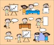 Bolha da fala, do discurso & homem de negócios Set dos profissionais da conversação ilustração stock