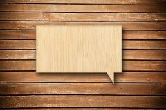Bolha de madeira do discurso Foto de Stock