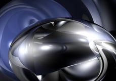 Bolha de Metall na luz azul Imagens de Stock Royalty Free