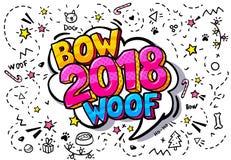 bolha de 2018 palavras ilustração stock