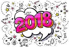 bolha de 2018 palavras Fotografia de Stock Royalty Free