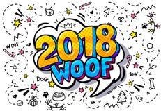 bolha de 2018 palavras ilustração royalty free