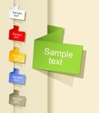 Bolha de papel do discurso do origami Fotografia de Stock Royalty Free
