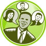 Bolha de People Smiling Speech do homem de negócios Imagens de Stock Royalty Free
