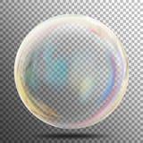 Bolha de sabão Bolha realística transparente com reflexão do arco-íris Apronte para aplicar-se a seu projeto Veja completamente o ilustração royalty free