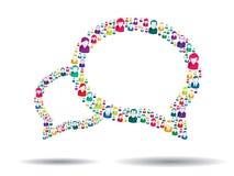 Bolha de uma comunicação Fotografia de Stock